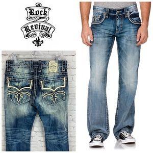 Rock Revival Tucker Bootcut Jeans 👖 Size 34